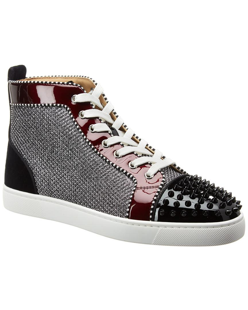 94a9eae8bced Christian Louboutin Patent Stud Sneaker in Black for Men - Lyst