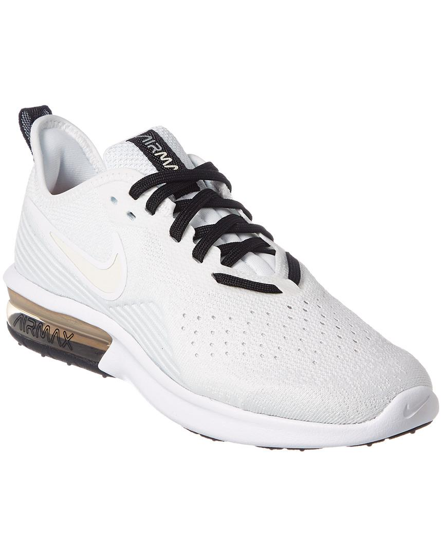 efafe0590c Lyst - Nike Air Max Sequent 4 Mesh Trainer in White