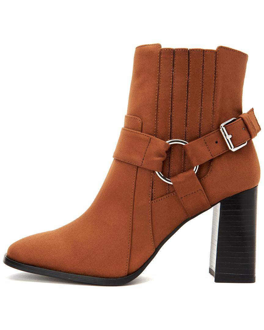 00e827258f06 Lyst - BCBGeneration Agnes Harness Bootie Ankle Boot in Brown - Save 58%