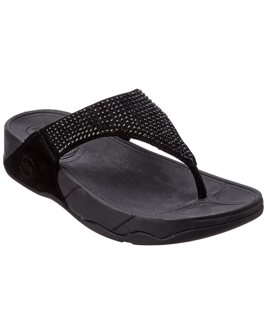 52eb0194f Lyst - Fitflop Rokkit Suede Slide Sandal in Black - Save 17%