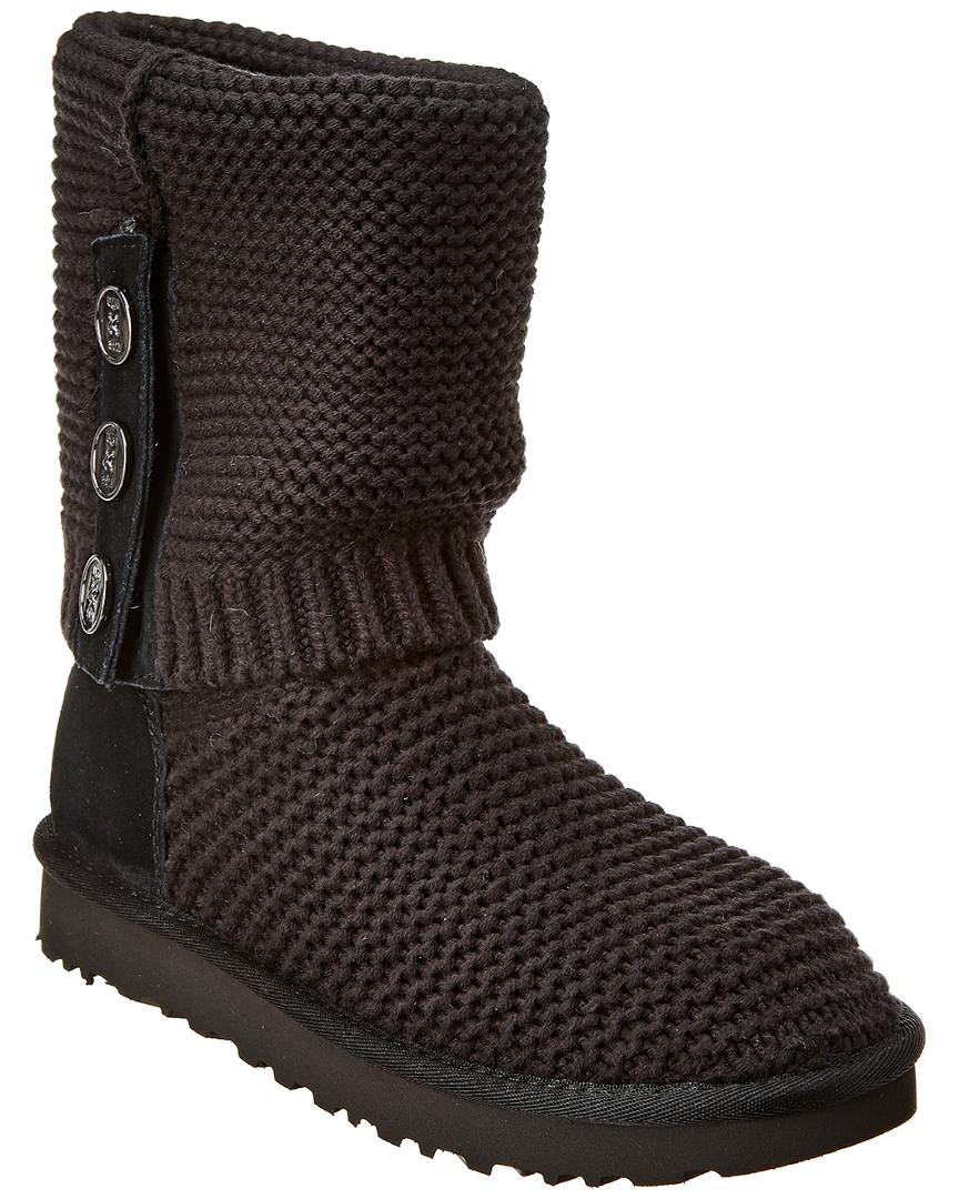 93601529326 Lyst - UGG Purl Cardi Knit Boot in Black - Save 17%