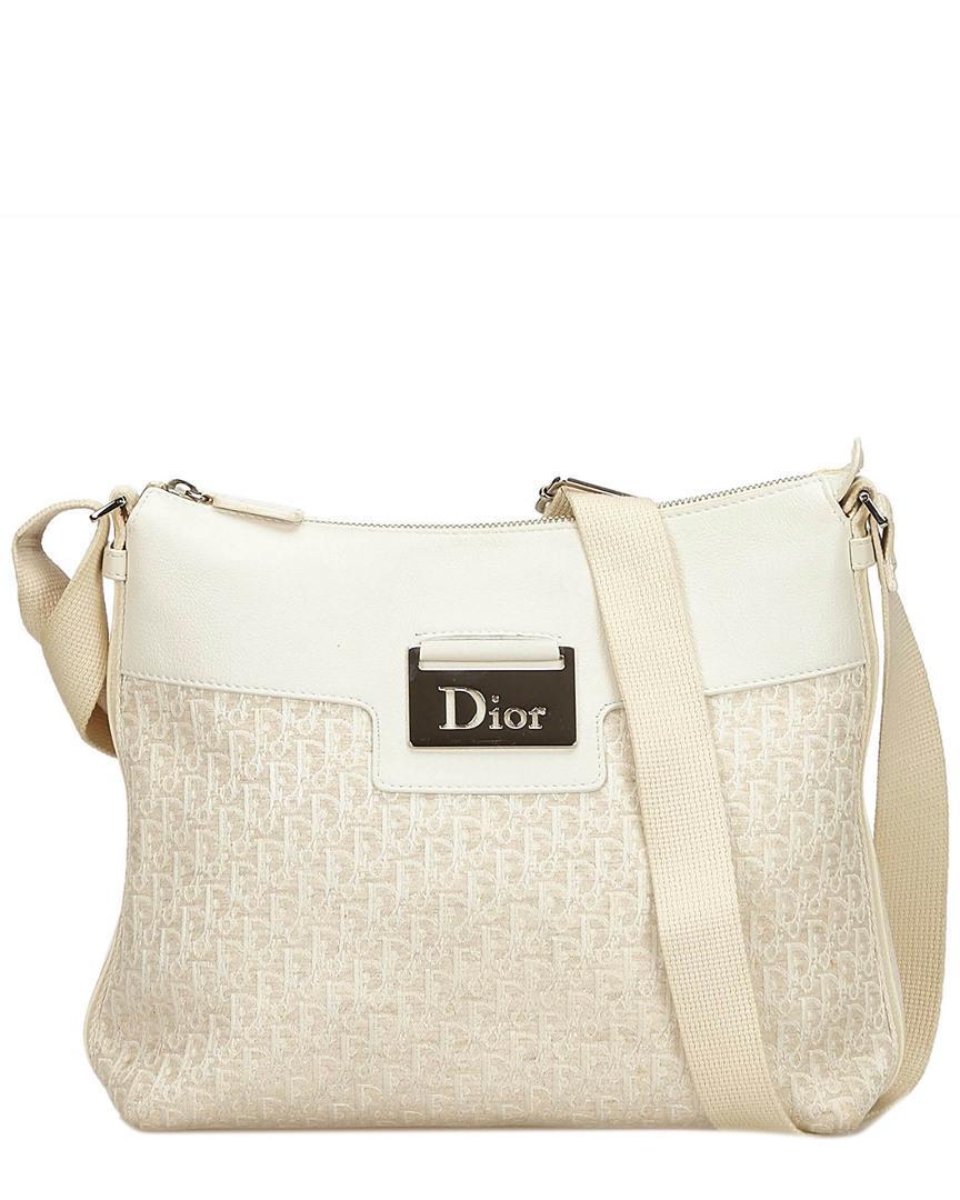 92ac0d2a38 Lyst - Dior White Jacquard Oblique Crossbody in White