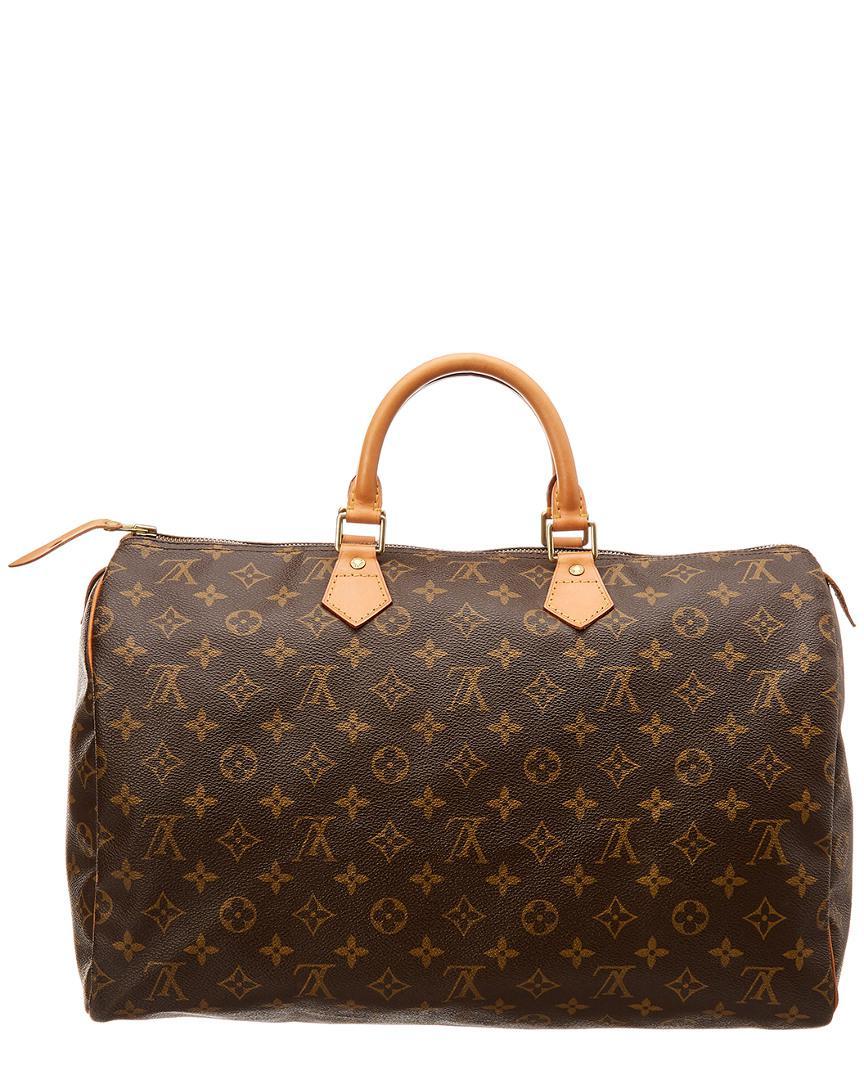 56d94515f7ed Lyst - Louis Vuitton Monogram Canvas Speedy 40 in Brown - Save ...