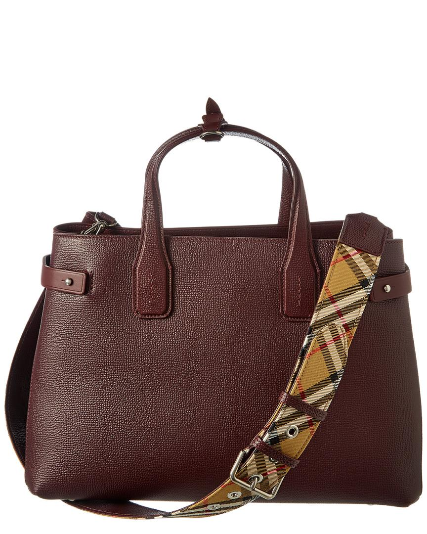 48480bd97 Burberry Medium Banner Vintage Check & Leather Tote - Lyst