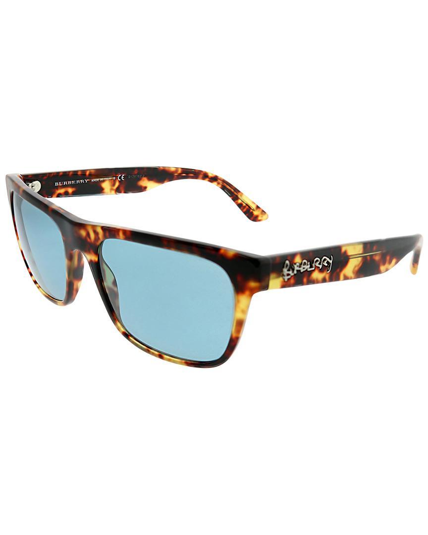 44475fbdfd0 Burberry - Blue Square 56mm Sunglasses for Men - Lyst. View fullscreen