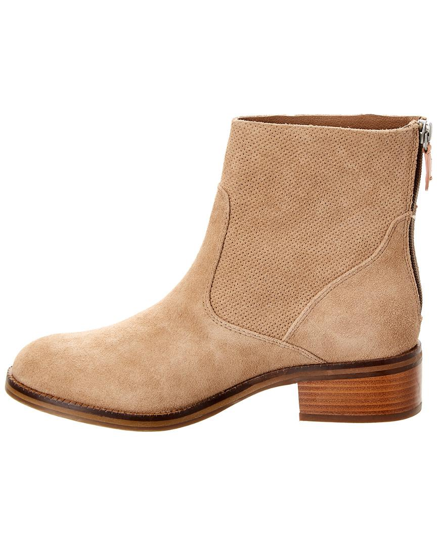 91feca4cc1d89 Lyst - Gentle Souls Parker Suede Bootie in Natural - Save 80%