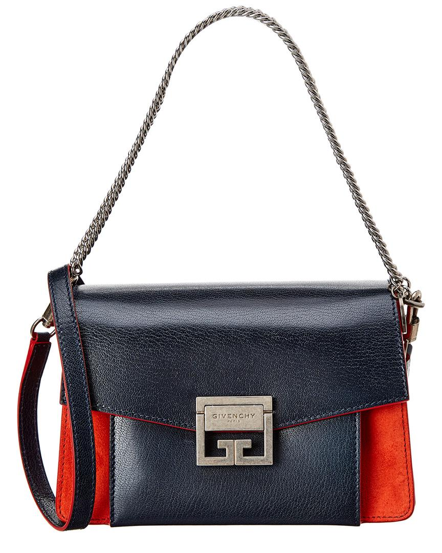 00967a562c Givenchy - Blue Small Gv3 Leather   Suede Shoulder Bag - Lyst. View  fullscreen