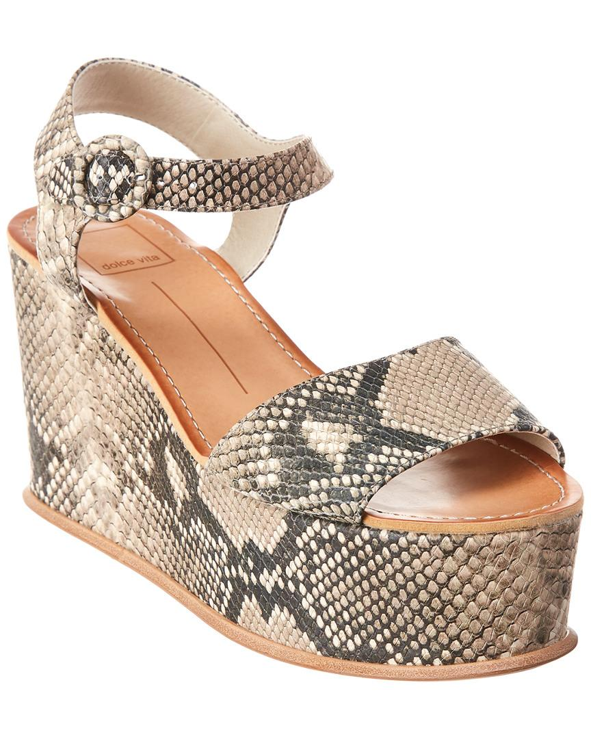 d7361bff17c Dolce Vita. Women s Datiah Leather Wedge Sandal