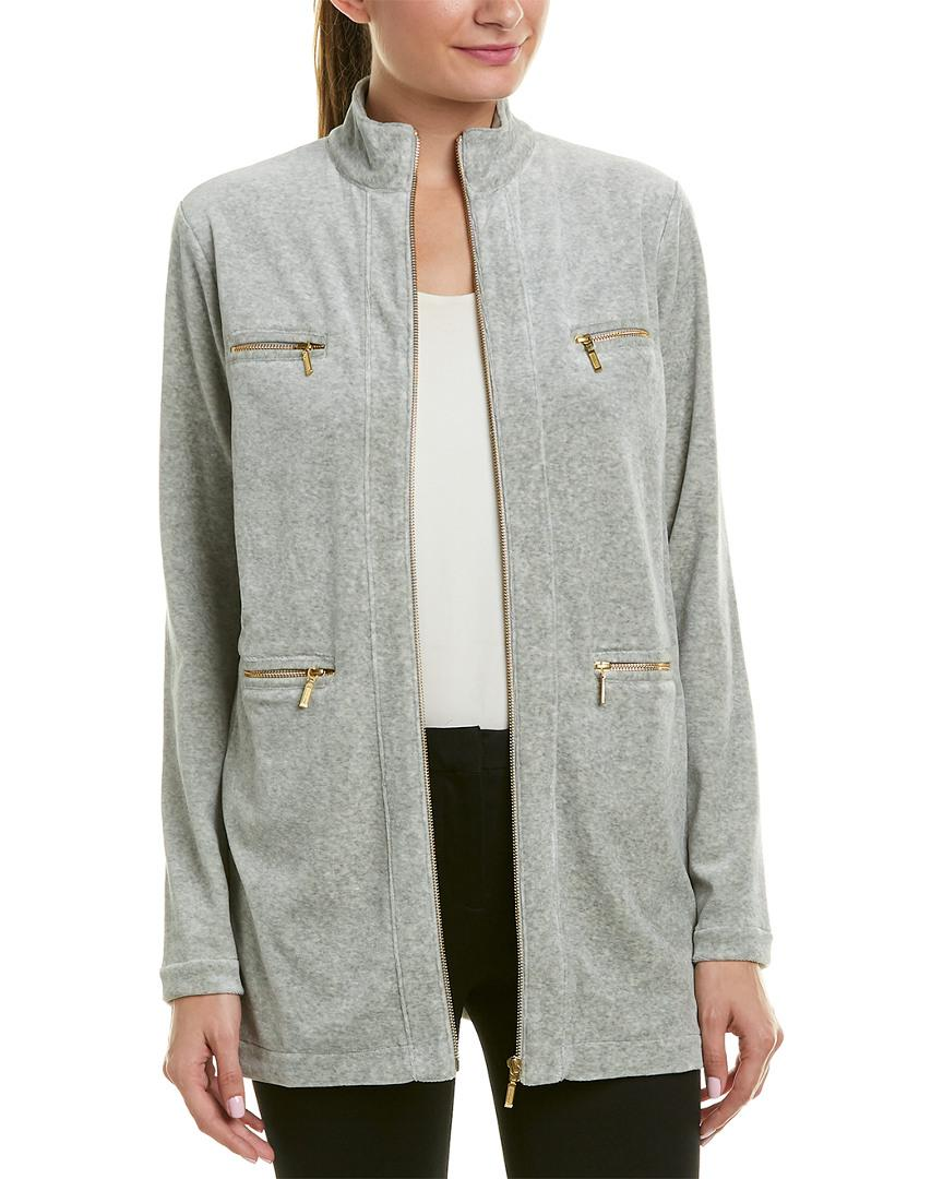 be032eeb0f9e1 Lyst - Joan Vass Jacket in Gray