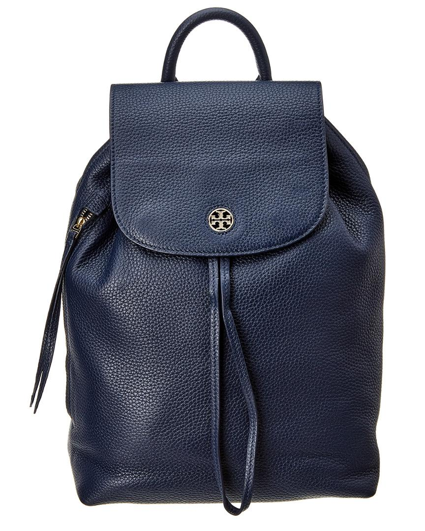 e2bb3f72501b Tory Burch Brody Leather Backpack in Blue - Lyst