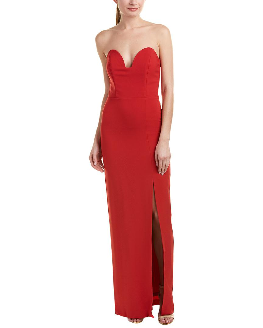 Lyst - Nicole Miller Gown in Red