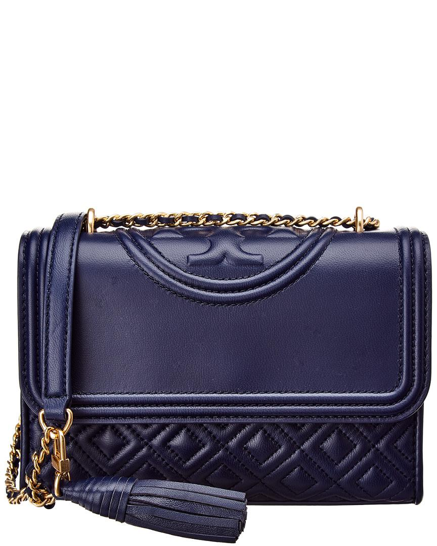 Lyst - Tory Burch Fleming Small Convertible Leather Shoulder Bag in ... df817da6bff70