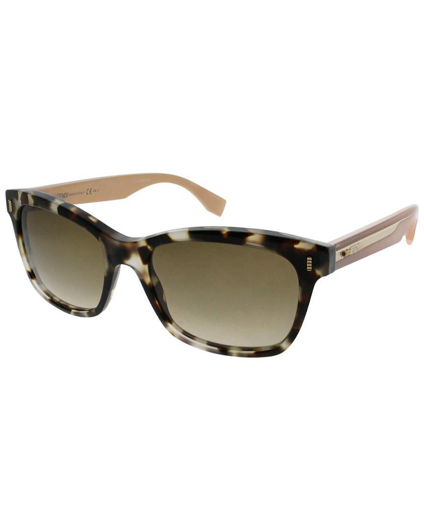 7442abcec2 Fendi. Women s Square 53mm Sunglasses
