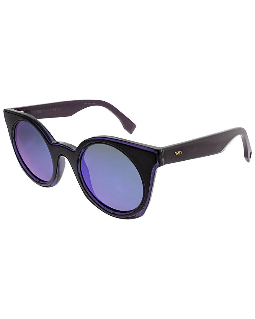 150f1ae958c Lyst - Fendi Ff0196 s 48mm Sunglasses in Blue