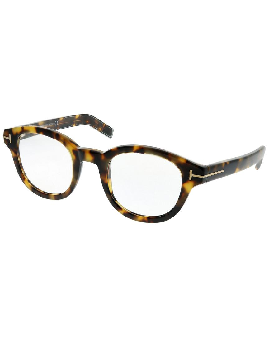d3afe7b64a2 Lyst - Tom Ford Round 47mm Optical Frames in Brown