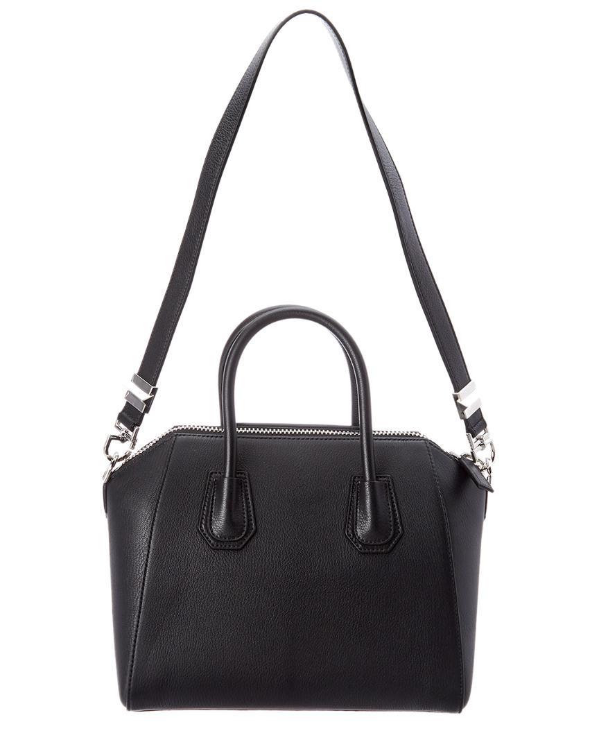 63897406fd7e Lyst - Givenchy Antigona Small Leather Satchel in Black