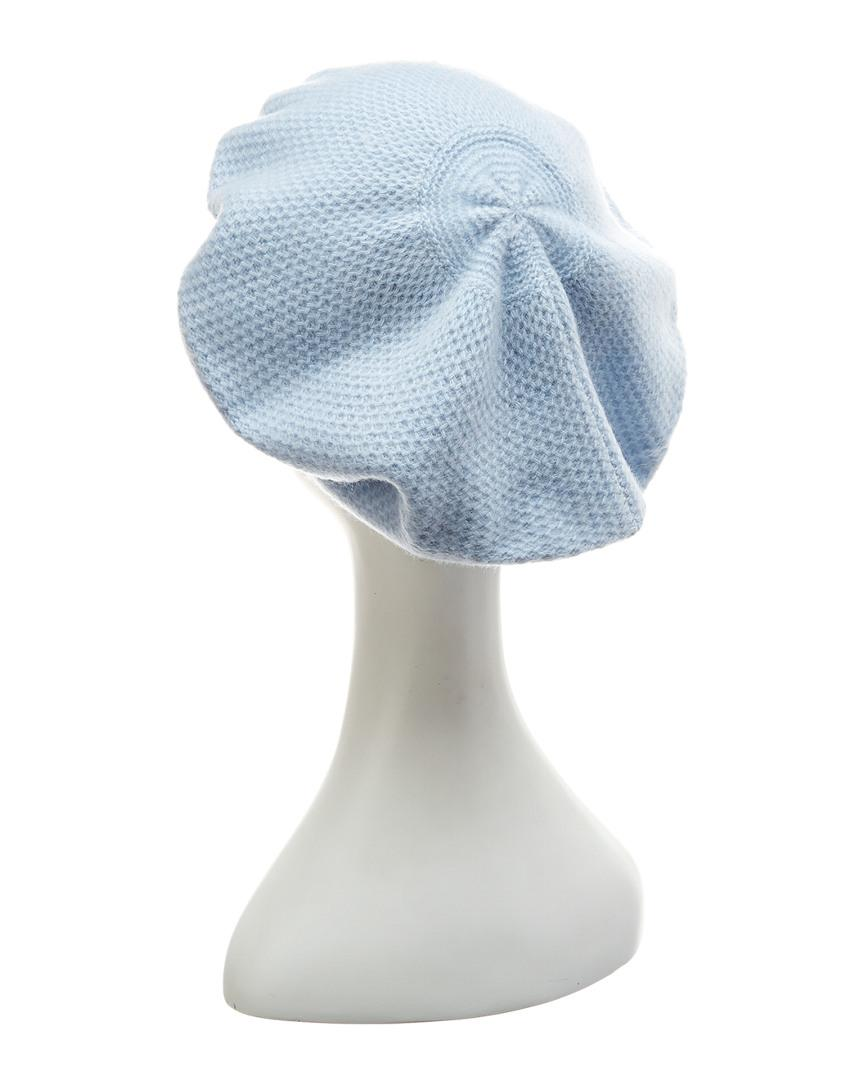Lyst - Portolano Baby Blue Honeycomb Beret in Blue 957f92ef618
