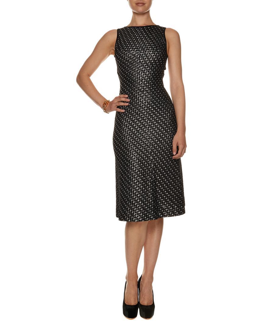 a40838b3 Lyst - Alaïa Alaïa Black Metallic Knit Cut Out Dress (size S) in Black