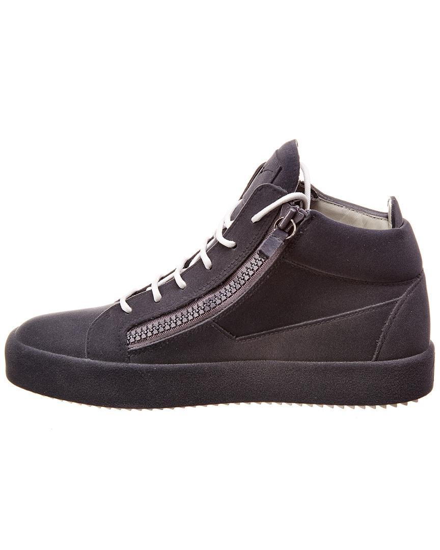 73598c70ff3aa Lyst - Giuseppe Zanotti Flocked Velvet Sneaker in Gray for Men - Save 17%