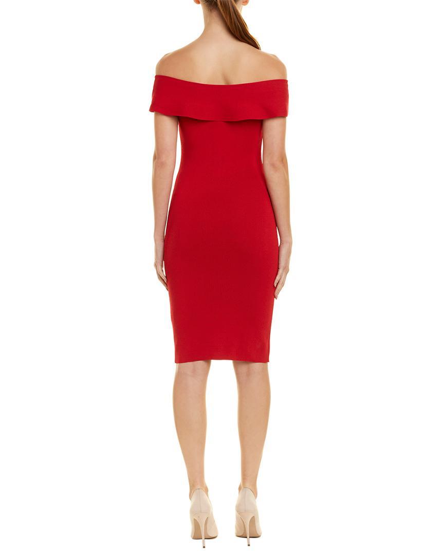 fa01313e0230 Lyst - Elie Tahari Sweaterdress in Red