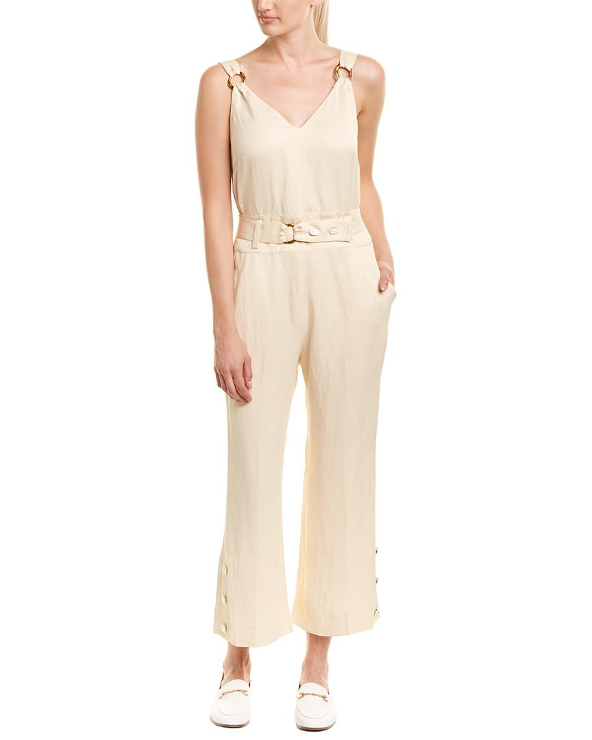 8f4c18b0b6a Lyst - 10 Crosby Derek Lam Belted Linen-blend Jumpsuit in Natural ...