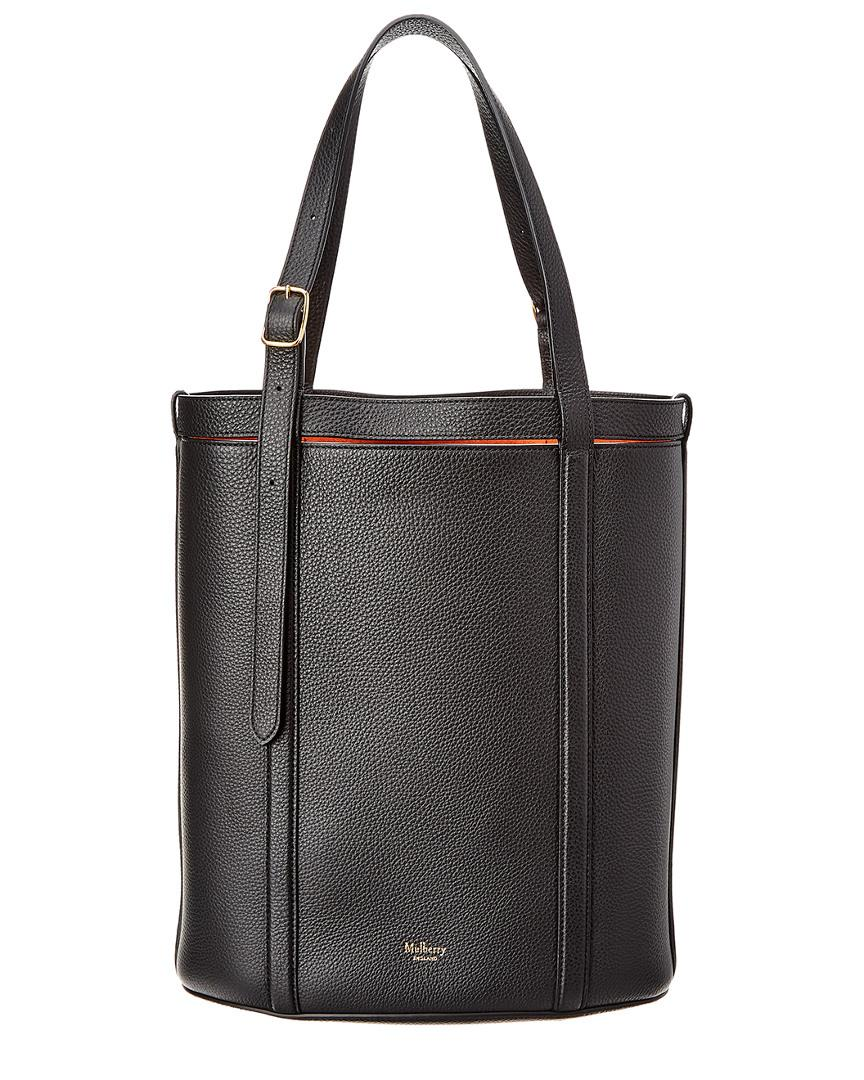 976c7631c5d Lyst - Mulberry Wilton Small Leather Tote in Black - Save ...