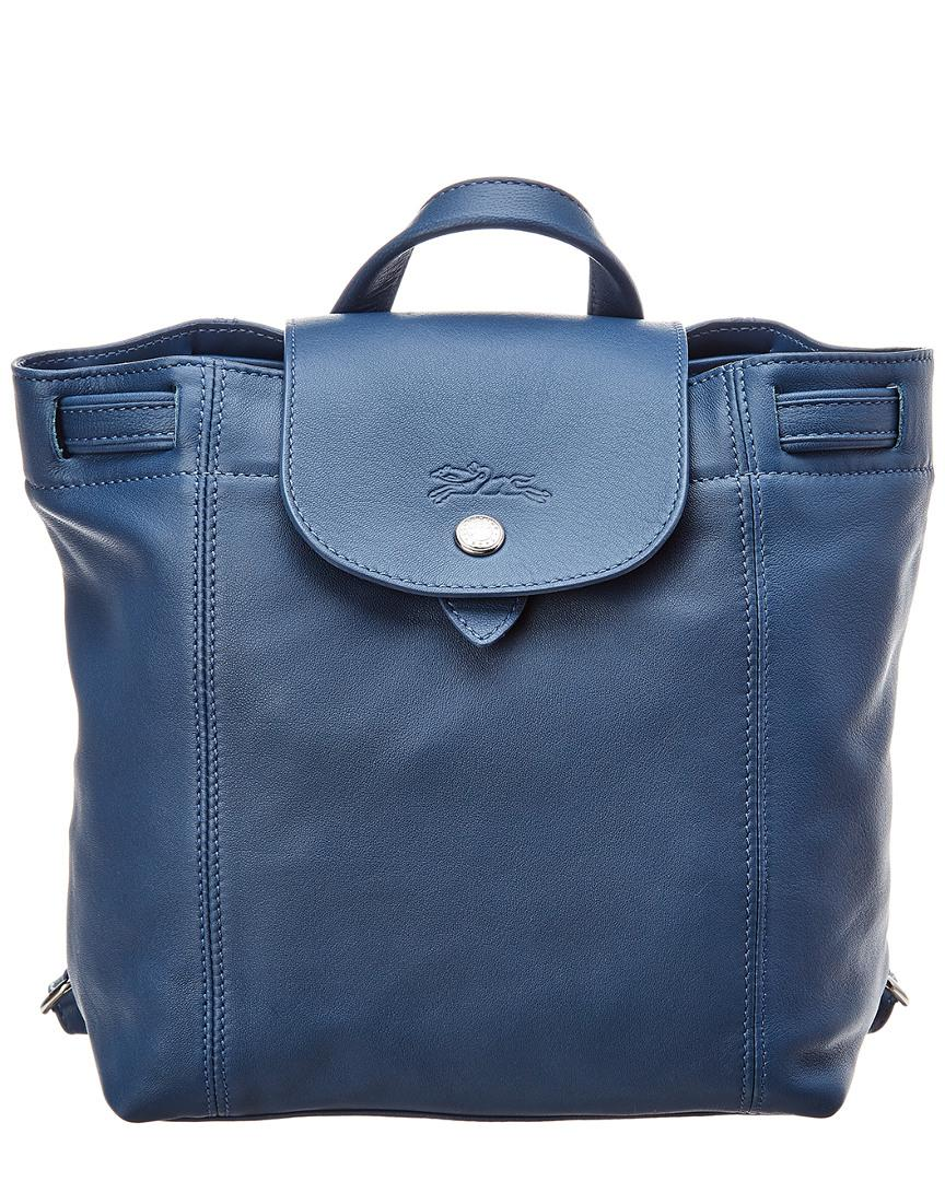 e8bad8178e28 Longchamp Le Pliage Cuir Xs Leather Backpack in Blue - Lyst