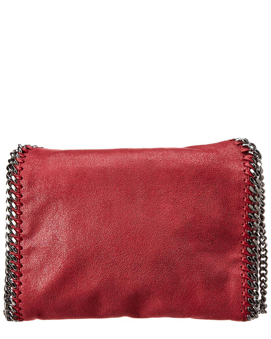 Lyst - Stella Mccartney Mini Falabella Shaggy Deer Tote in Red - Save  4.965517241379317% dc1783e0a3