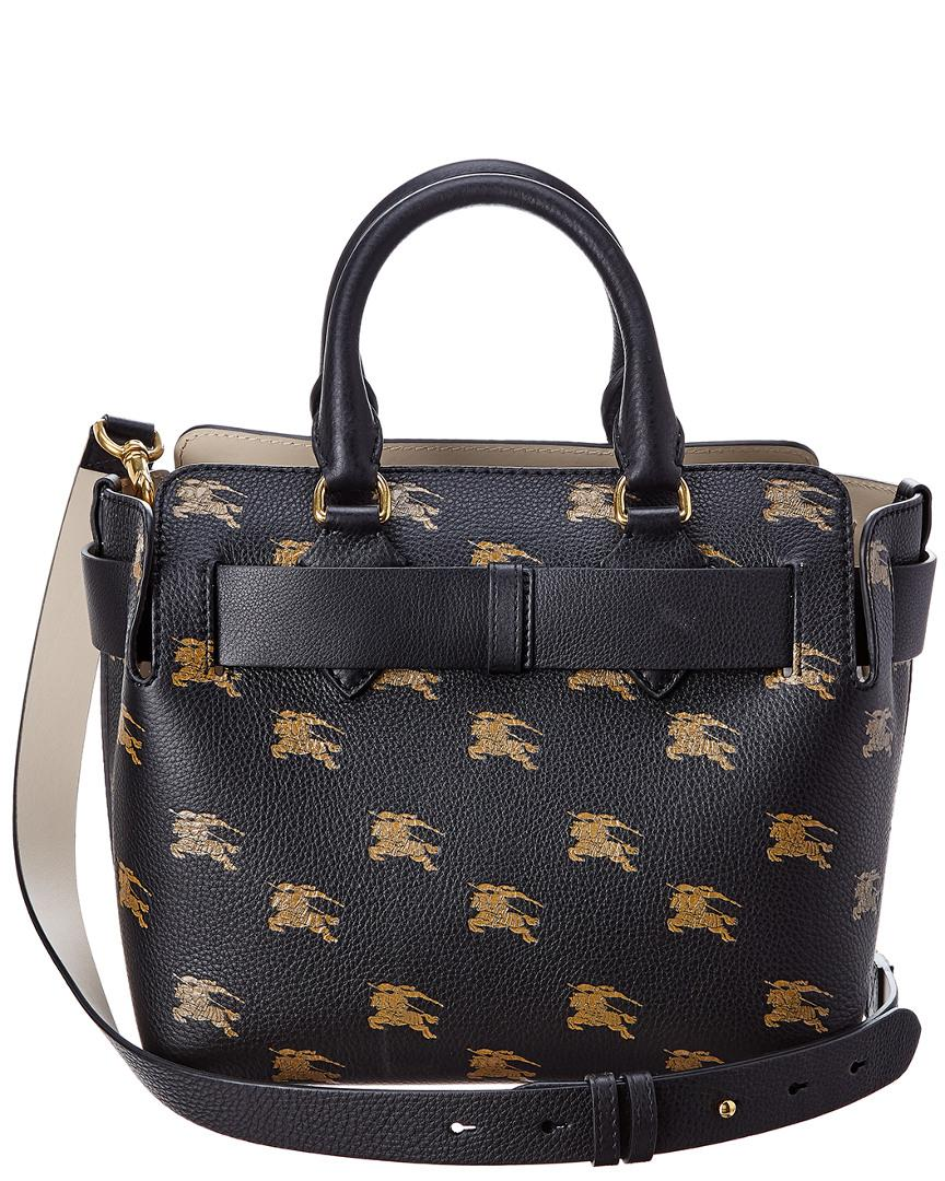 3266e6866ba5 Burberry The Small Equestrian Knight Leather Belt Bag in Black - Save 13% -  Lyst