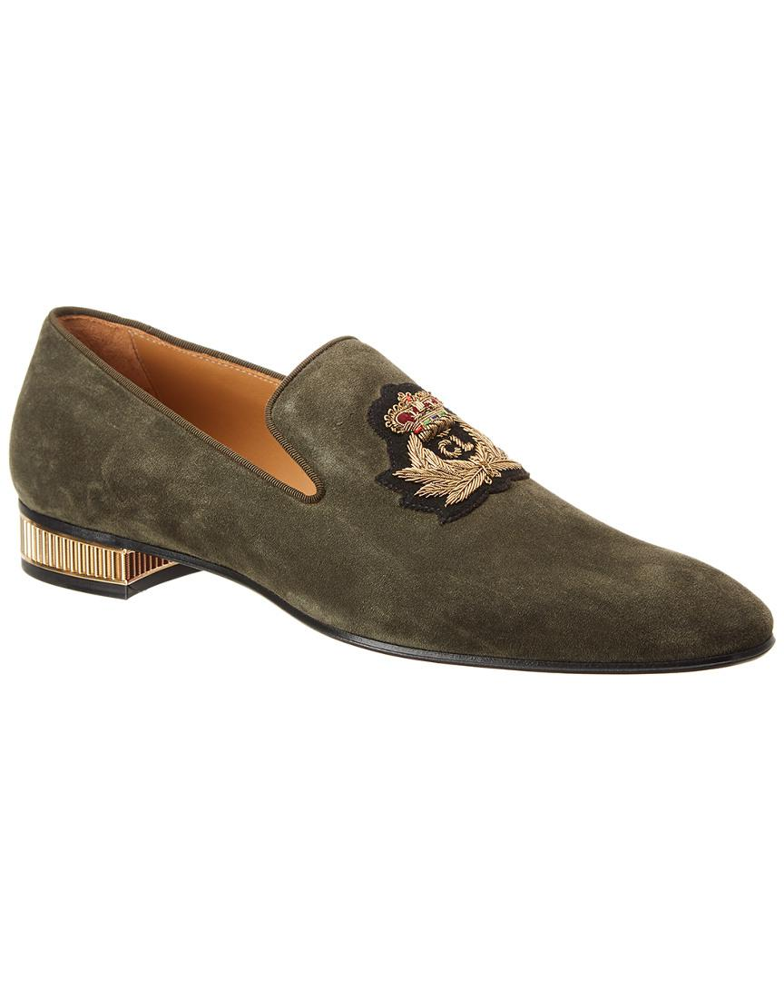 16c8c08bcc8 Lyst - Christian Louboutin Colonnaki Veau Velours Suede Loafer in ...