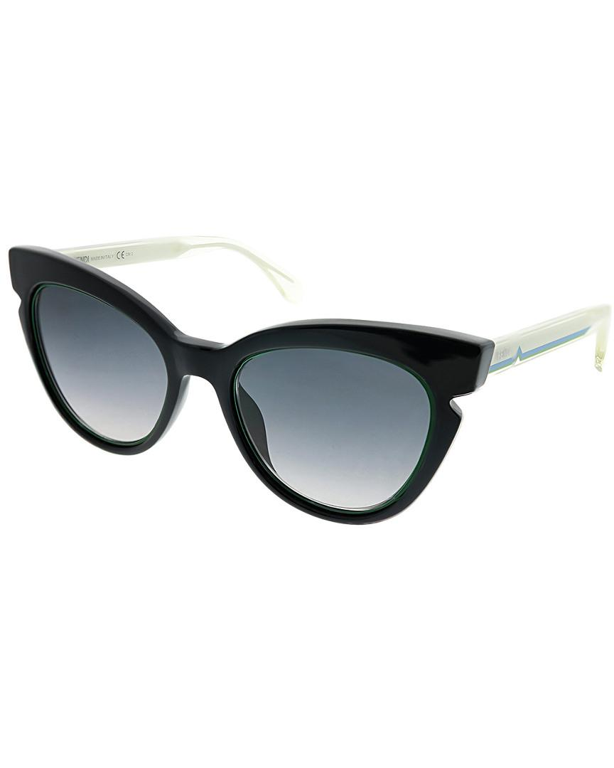 0bc145ba5a0 Lyst - Fendi Cat-eye 51mm Sunglasses in Black