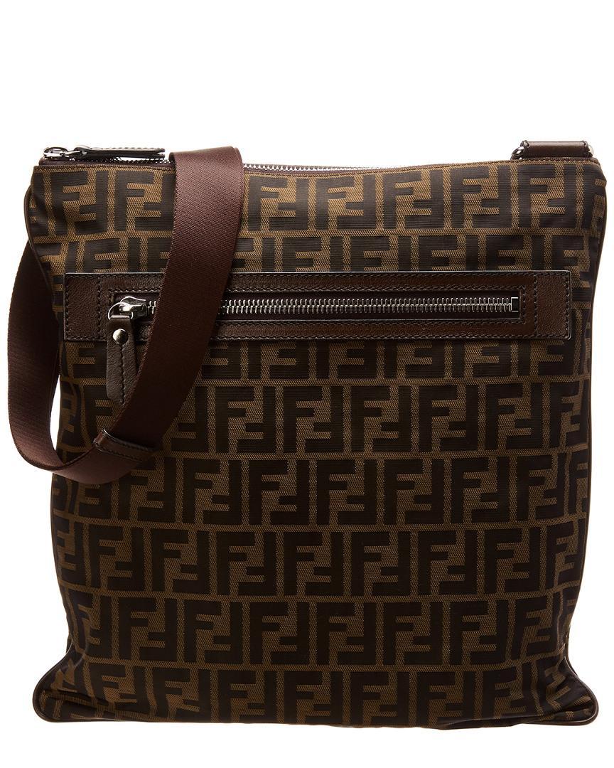 592d9fe3d5a5 Lyst - Fendi Brown Zucca Canvas Messenger Bag in Brown