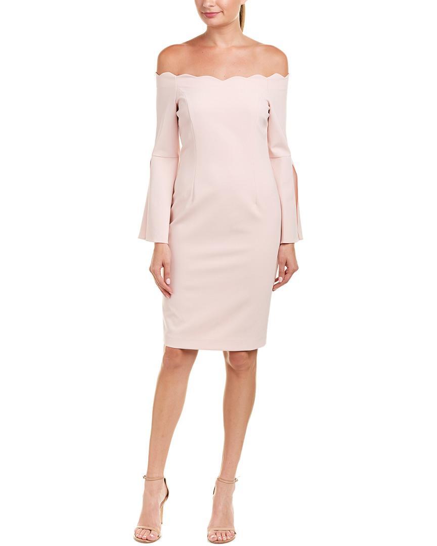 e39d022a Teri Jon By Rickie Freeman Sheath Dress in Pink - Lyst