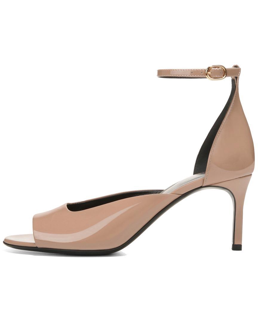 87aae371e85 Lyst - Via Spiga Women s Jennie Patent Leather Mid-heel Sandals - Save 16%