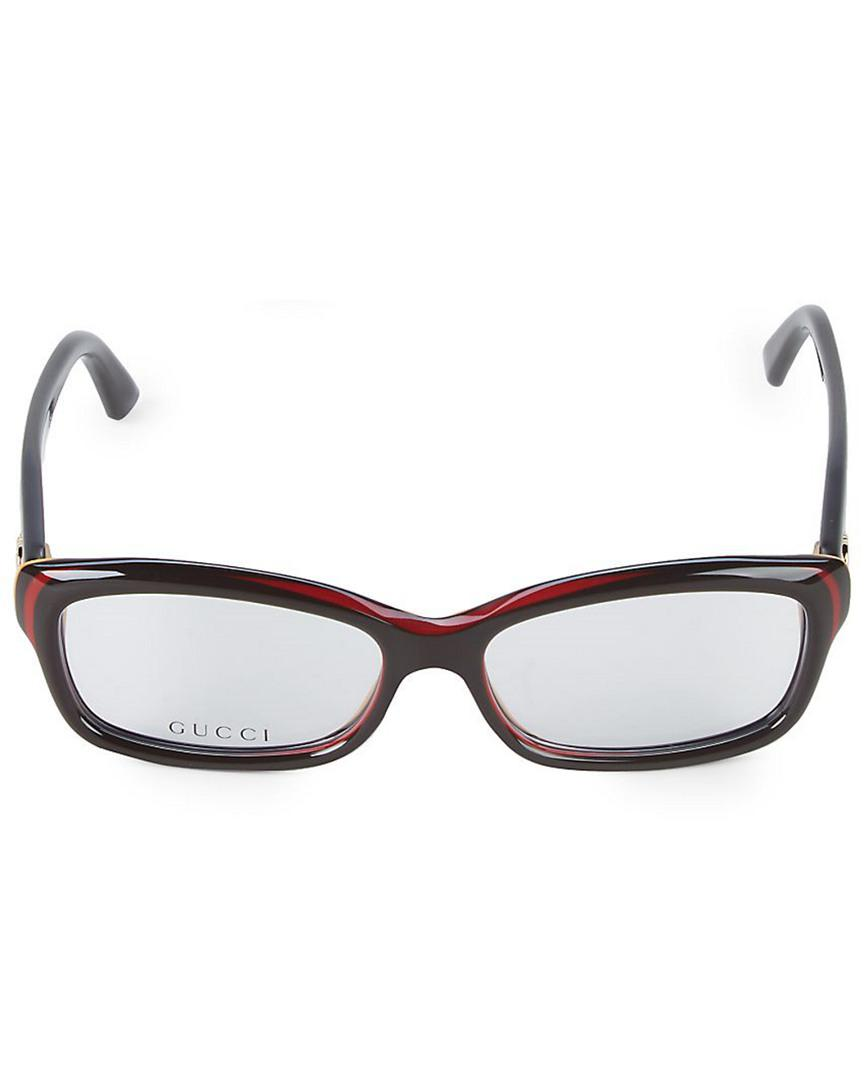 29638a1673 Gucci 52mm Rectangular Optical Glasses in Brown - Lyst