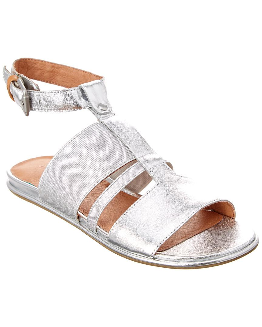 3f8a7663aa87 Lyst - Gentle Souls Ophelia Leather Sandal in Metallic