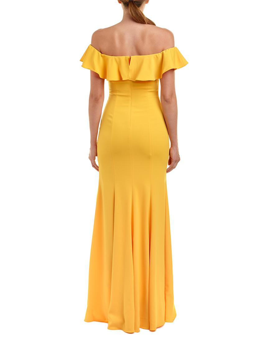 a679510e587ef Lyst - Jay Godfrey Gown in Yellow - Save 44.4%