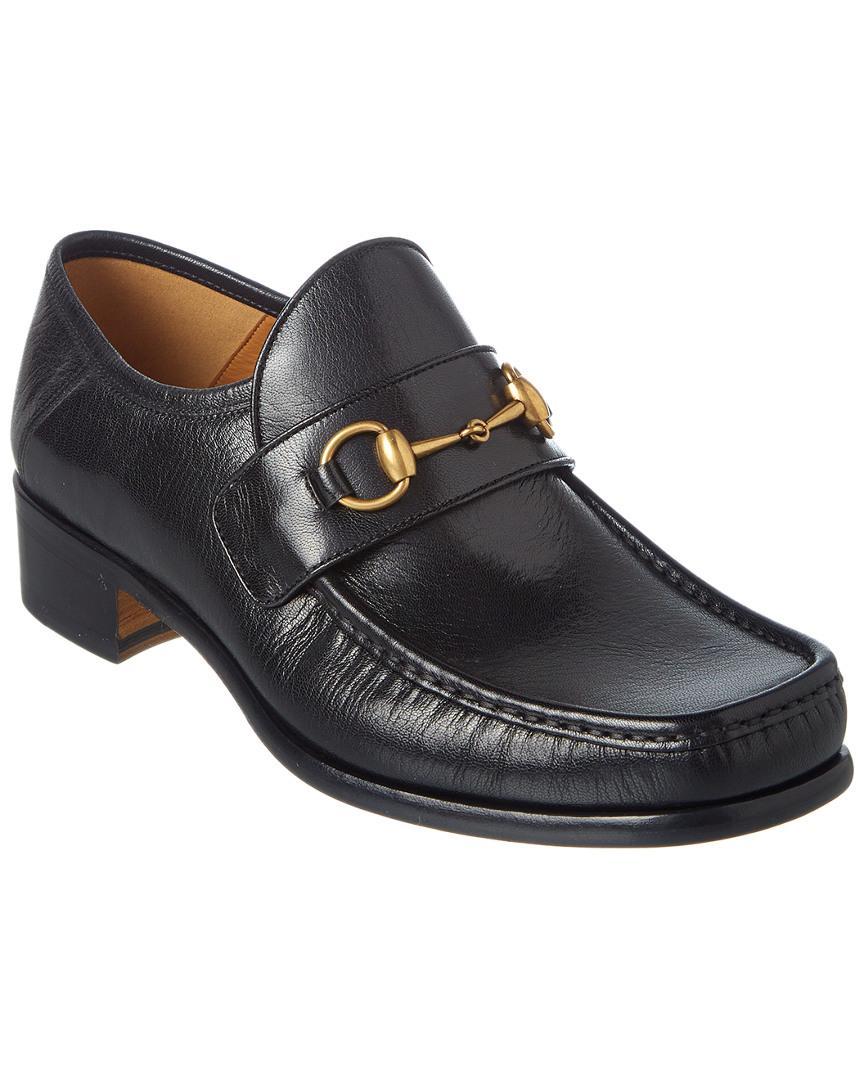 c1df2e8448d Lyst - Gucci Vegas Horsebit Leather Loafer in Black for Men
