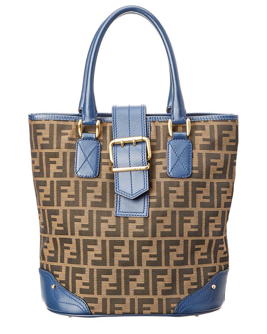 9998d41bef1a discount fendi canvas bag lyst handbags fc74e 81ff5