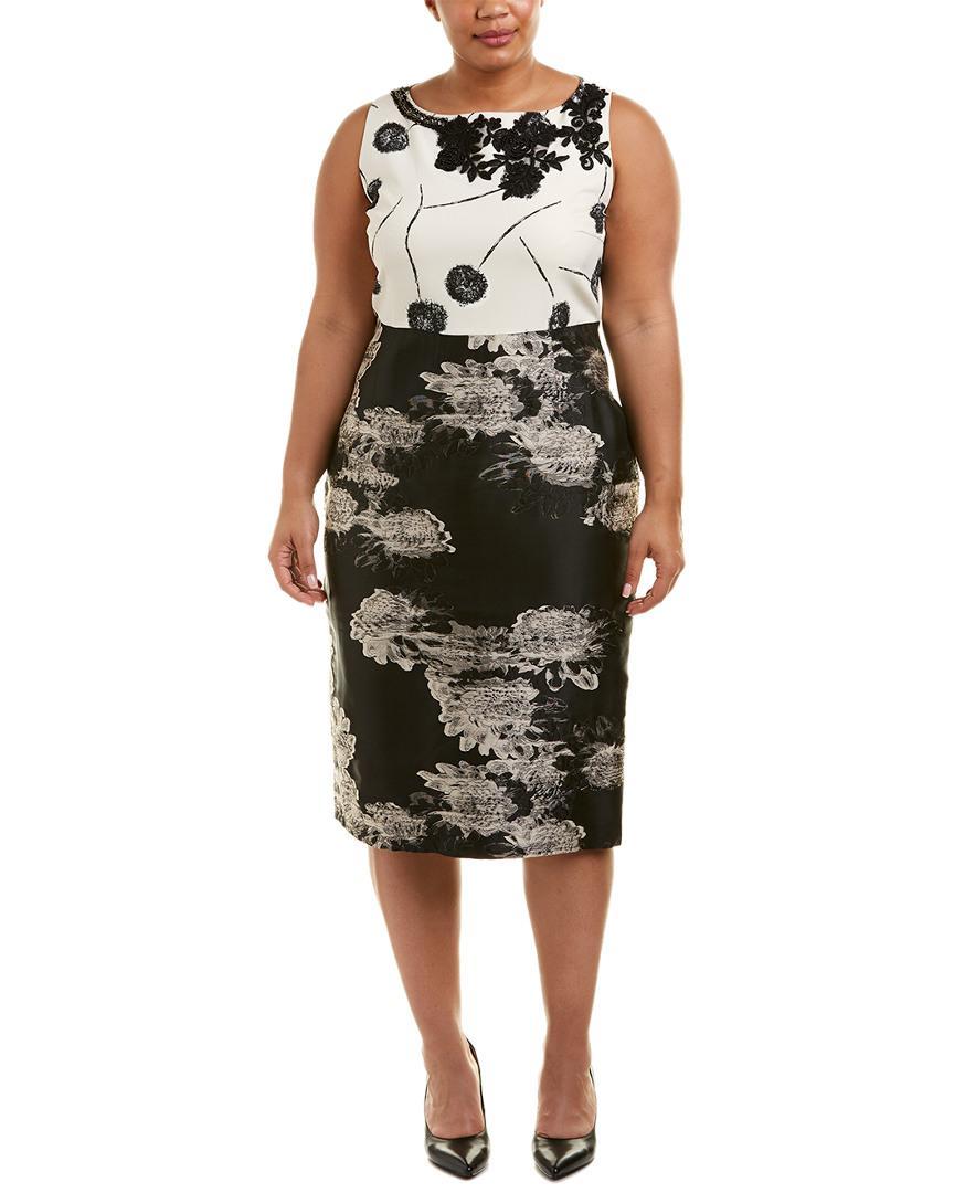 b81d718b9b3 Marina Rinaldi - Black Plus Sheath Dress - Lyst. View fullscreen