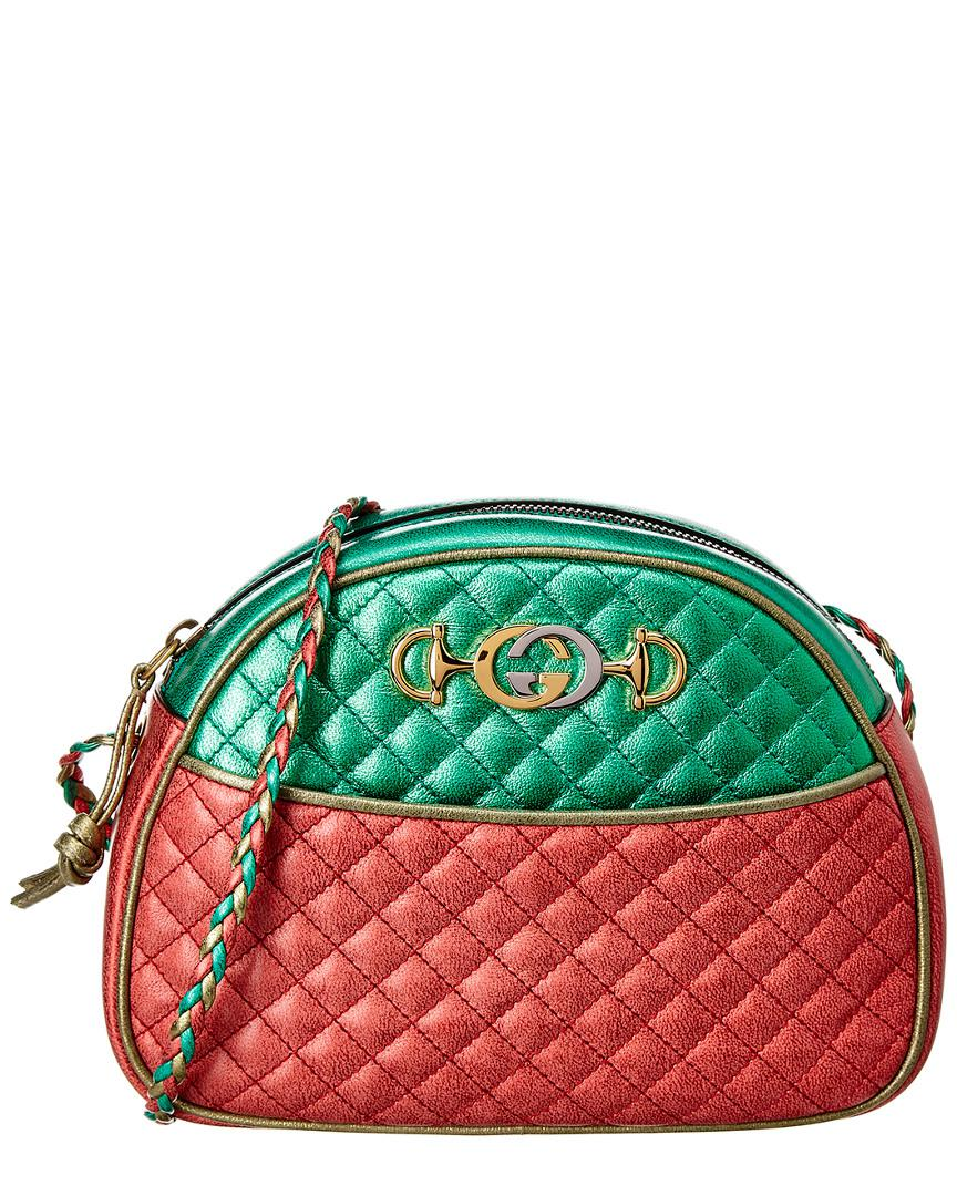 f139b008b5a Lyst - Gucci Laminated Leather Shoulder Bag in Pink - Save 13%