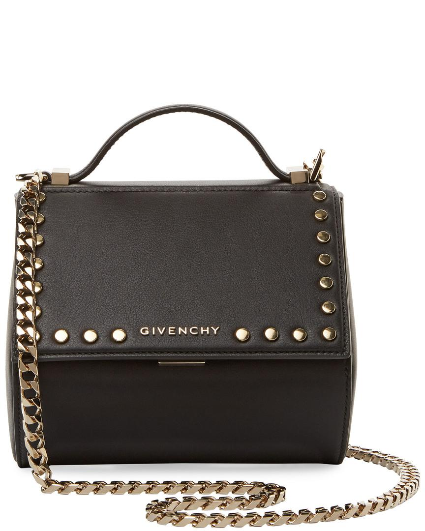 Givenchy - Black Mini Pandora Box Leather Crossbody - Lyst. View fullscreen c88973b285ba9
