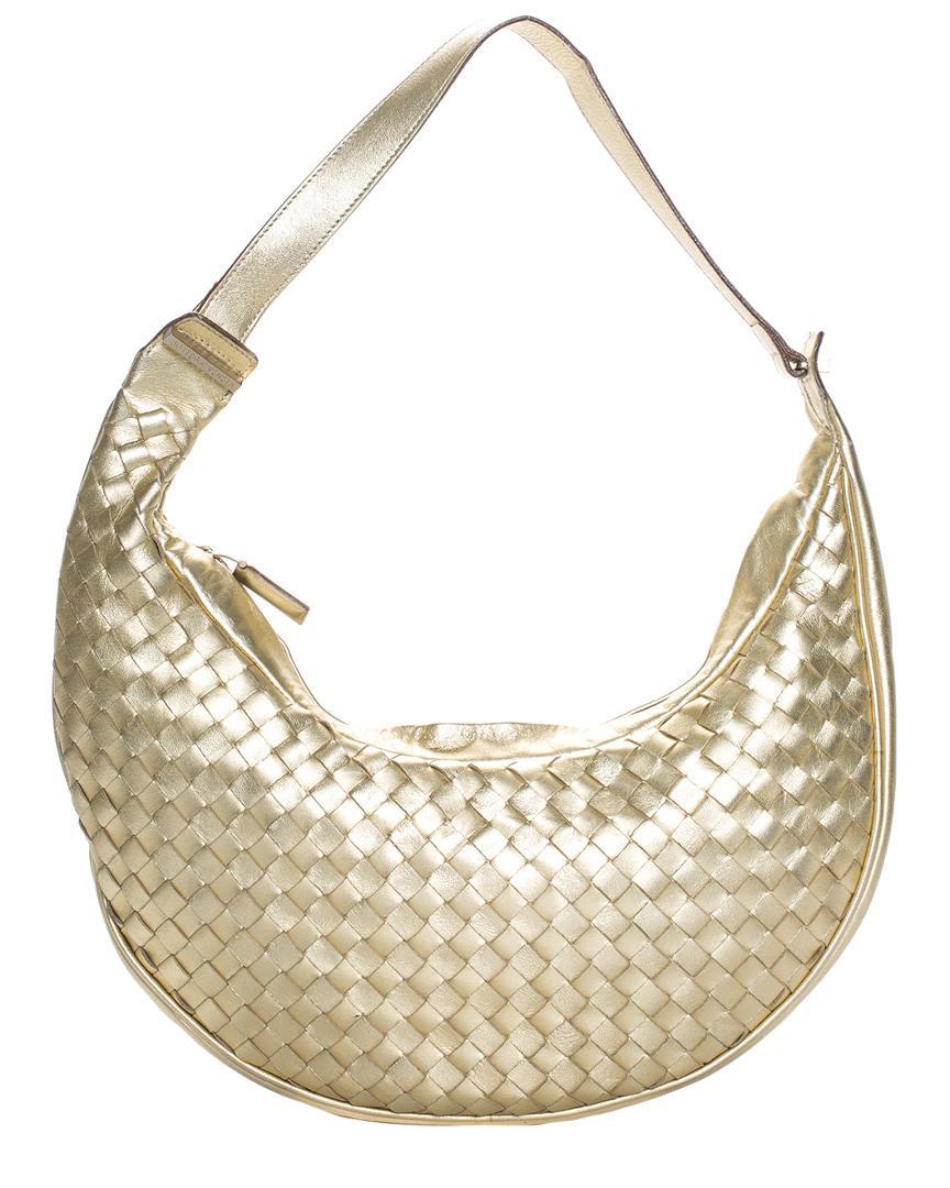 fb35ae8542 Bottega Veneta Gold Intrecciato Leather Hobo Bag in Metallic - Lyst