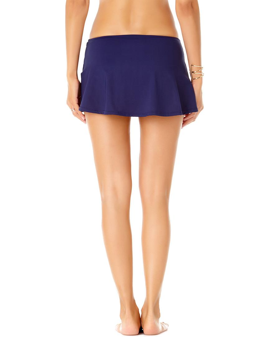 fd0ebc735f Lyst - Anne Cole Live-in-color Sarong Swim Skirt in Blue - Save 35%