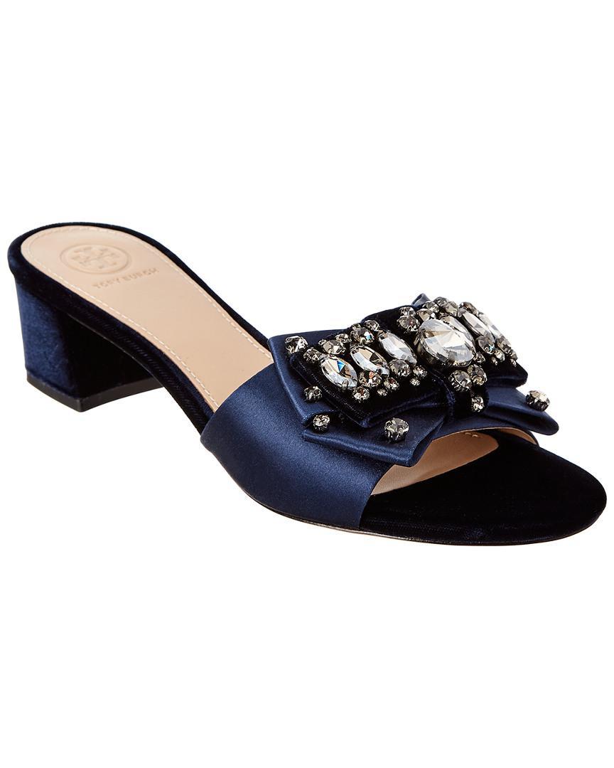 e45512b2f67751 Lyst - Tory Burch Valentina Sandal in Blue - Save 17%