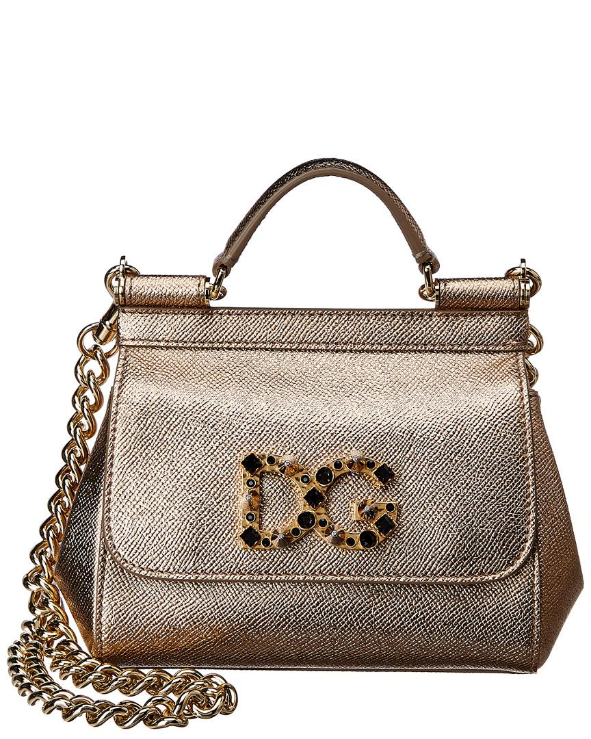 482d72c3aa Lyst - Dolce   Gabbana Mini Sicily Leather Shoulder Bag