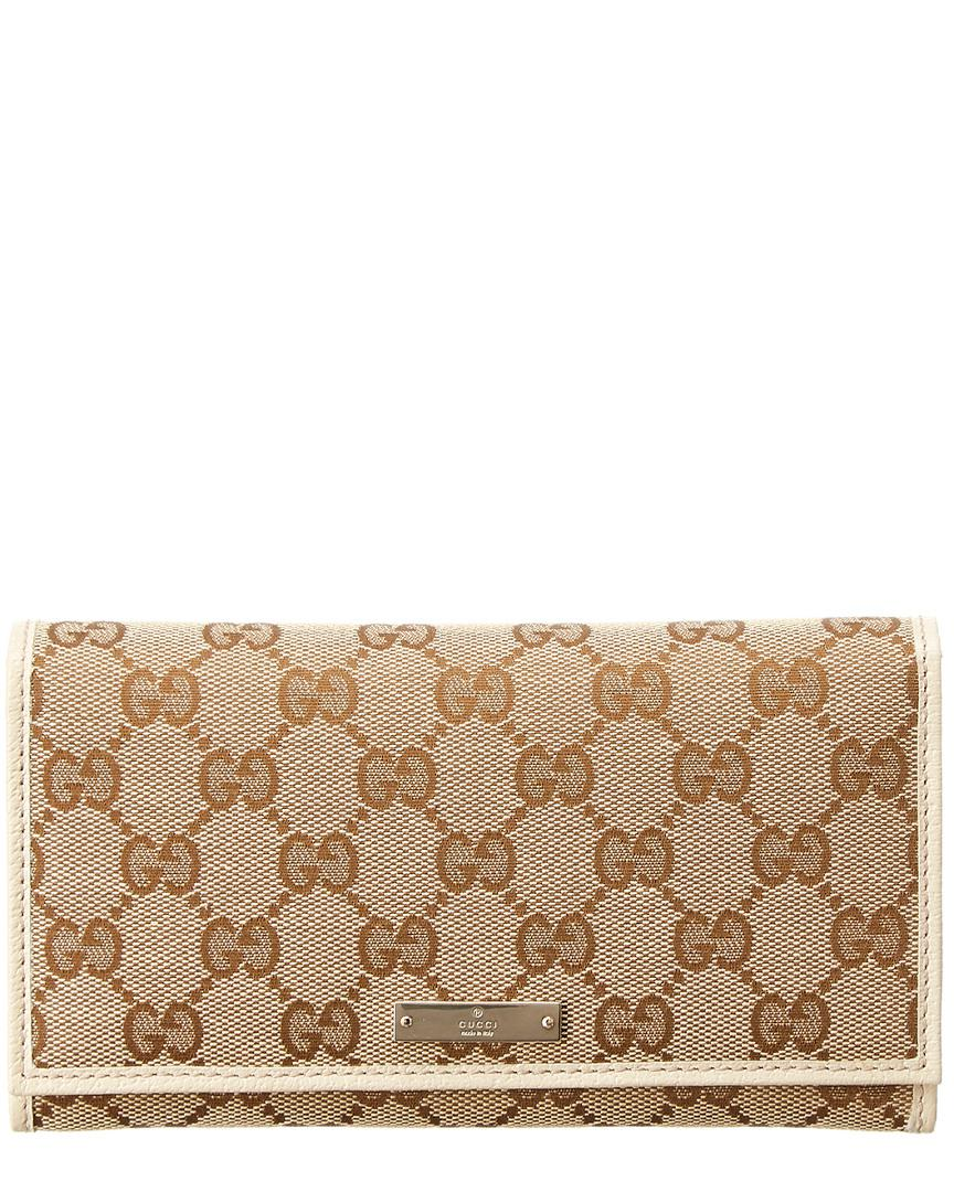 726109457fc0 Gucci Beige Gg Supreme Leather Wallet in Natural - Lyst