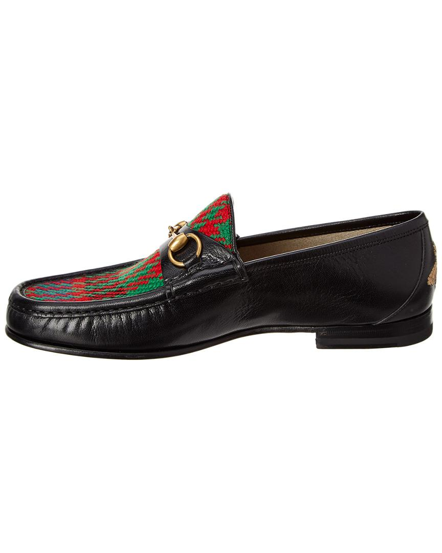 5432501ad Lyst - Gucci Leather & Tweed Loafer in Black for Men - Save 3%