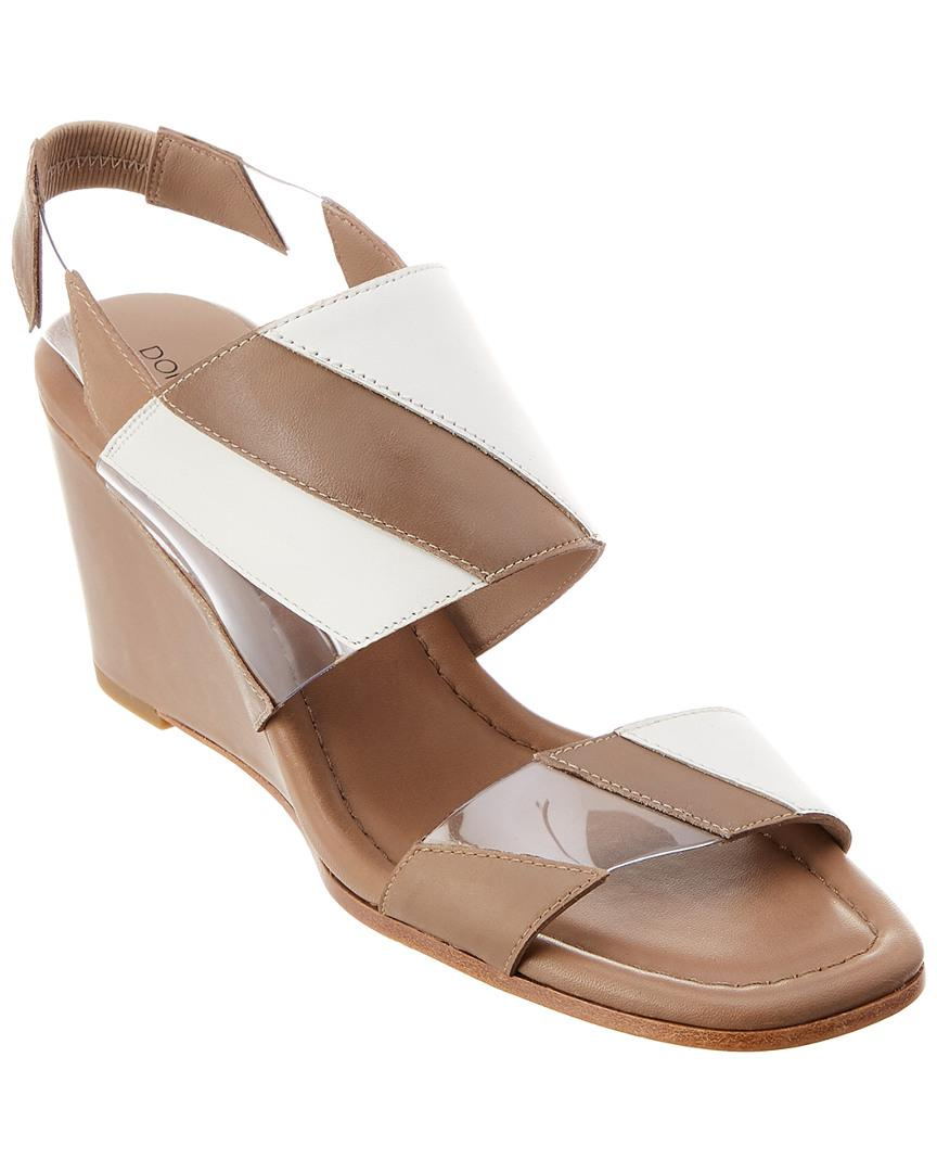 fc1c523e2e1 Lyst - Donald J Pliner Levie Leather Wedge Sandal in Natural - Save ...