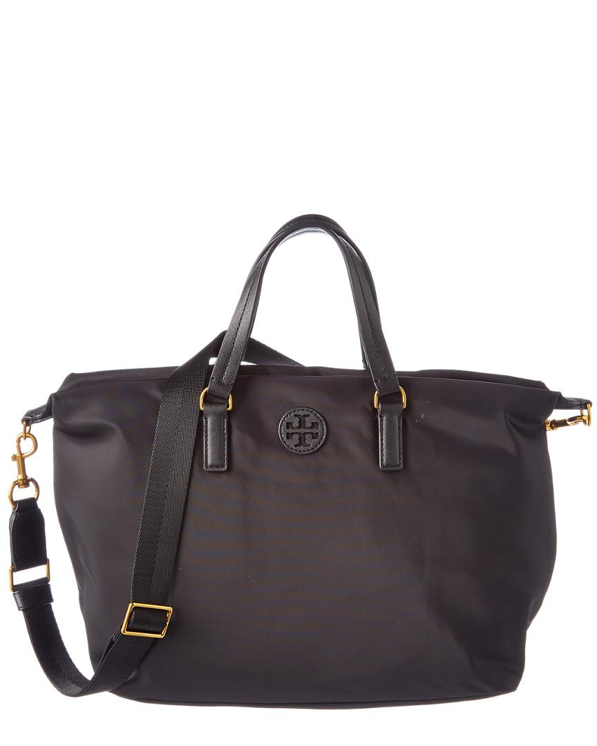 3cde2b6a49 Tory Burch Scout Nylon Slouchy Satchel in Black - Lyst